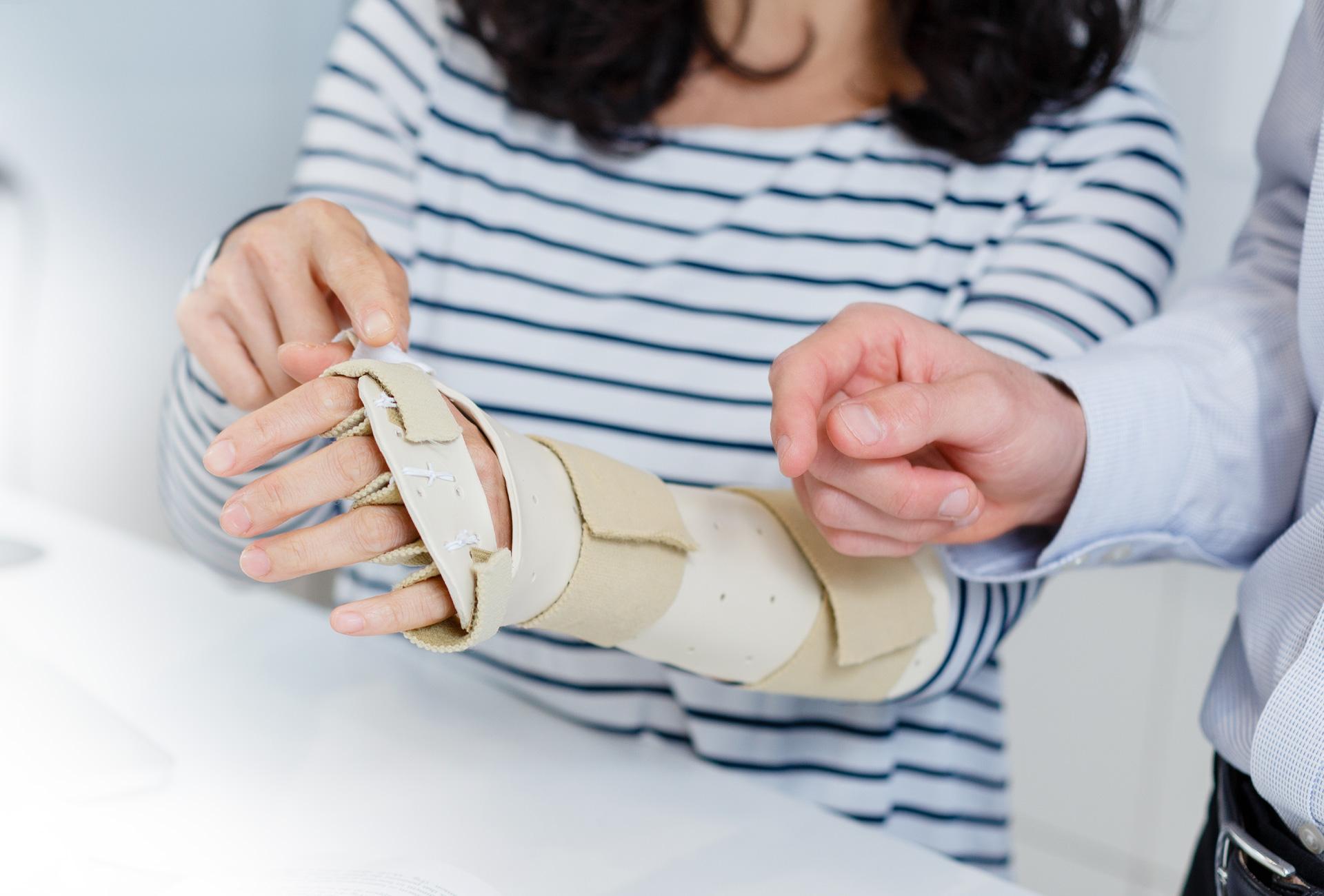 HTC Wrist splint treatment